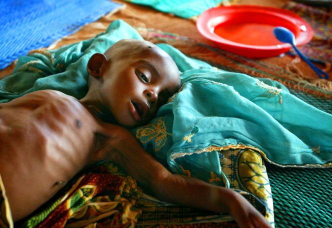 Un centre médical de Médecins sans frontières (MSF) à Maradi, au Niger, en juin 2005.