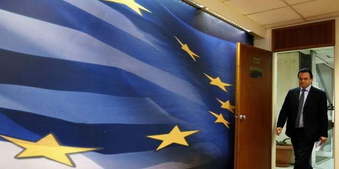Le ministre des finances grec, Georges Papaconstantinou, à Athènes, le 11 avril 2010.