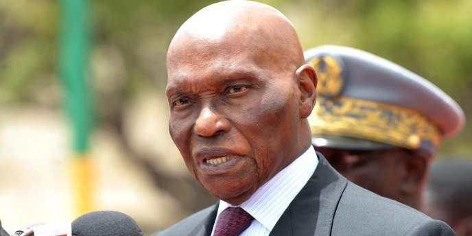 Abdoulaye Wade, le 4 avril, à Dakar (Sénégal).