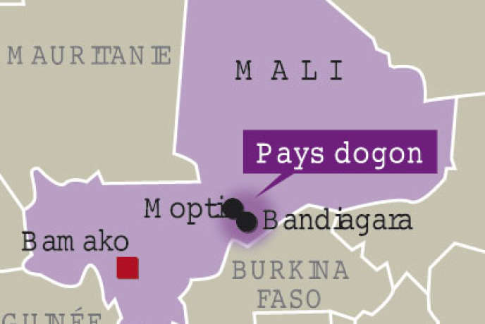 Situation du pays dogon.