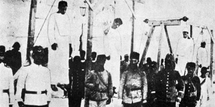 Photo du génocide arménien, prise à Alep en 1915.