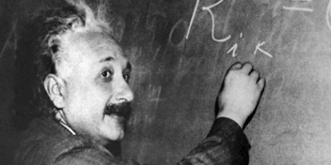 Portrait d'Albert Einstein (1879-1955), en 1921.