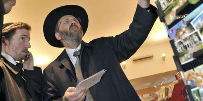 Le grand rabbin de France, le 25 avril 2010 à Vichy.
