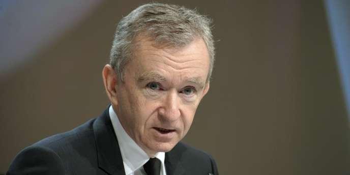 Le PDG du groupe de luxe LVMH, Bernard Arnault.