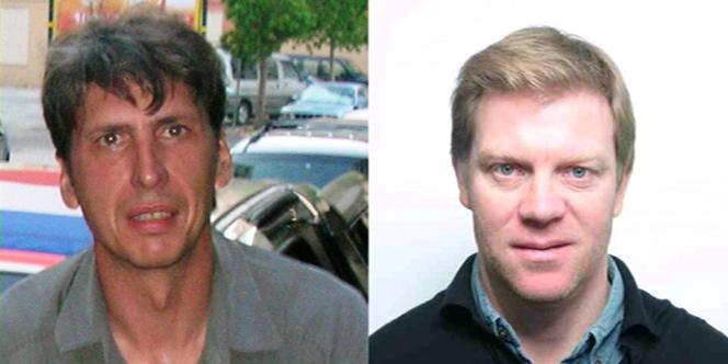 Les journalistes de France 3, Stéphane Taponier, à gauche, et Hervé Ghesquière, à droite, sont retenus en otage en Afghanistan depuis un an.