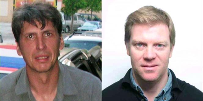 Stéphane Taponier, à gauche, et Hervé Ghesquière, à droite