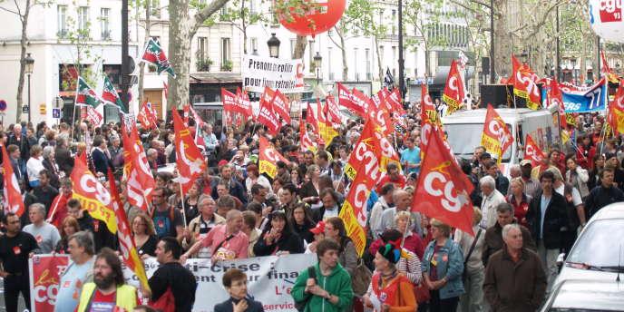 Dans la manifestation parisienne du 1er mai 2010.