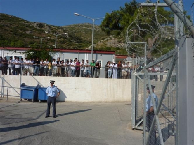 Un centre de rétention dans l'île de Samos, en Grèce.