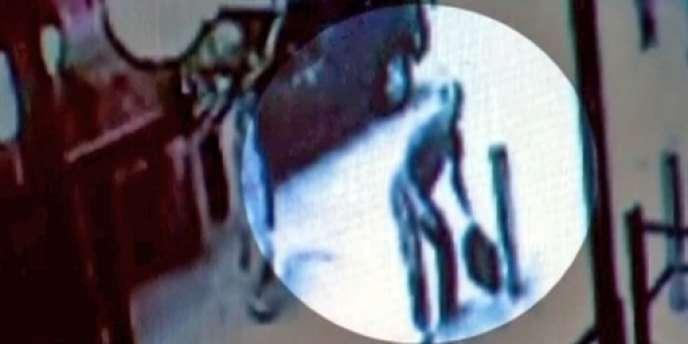 Image d'une caméra de vidéosurveillance dans le quartier new-yorkais de Times Square, le 3 mai 2010.