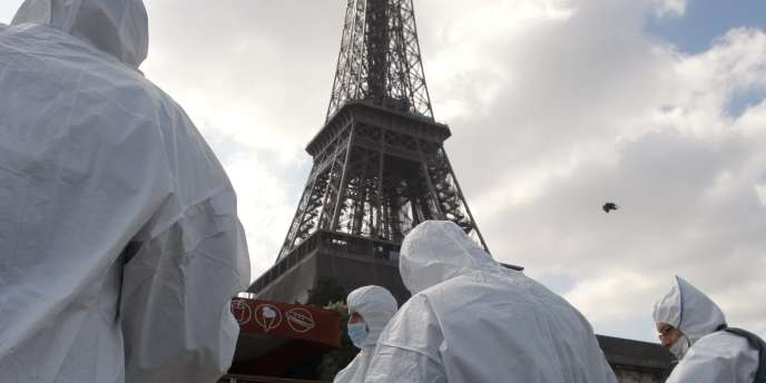 Simulation d'attaque terroriste à Paris, le 4 mai 2010.