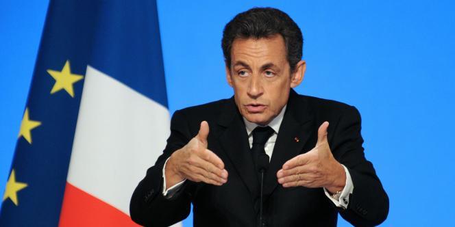 Nicolas Sarkozy, le mercredi 5 mai, à l'Elysée.