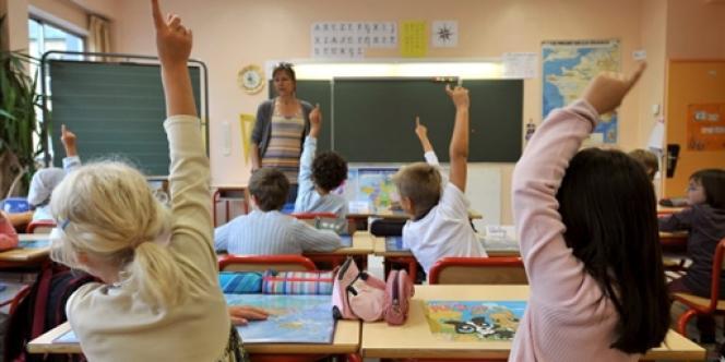 Des élèves d'une école primaire de Caen.