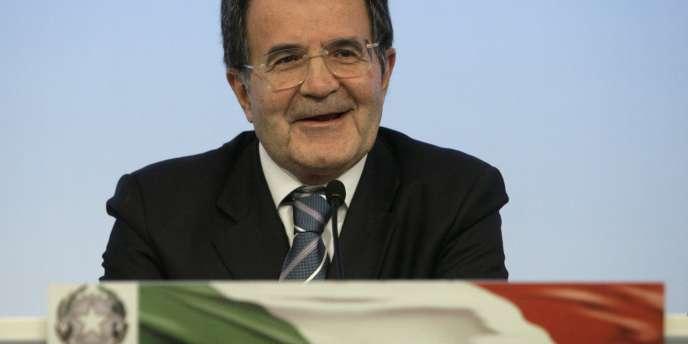 Romano Prodi a Rome, le 22 avril 2008.