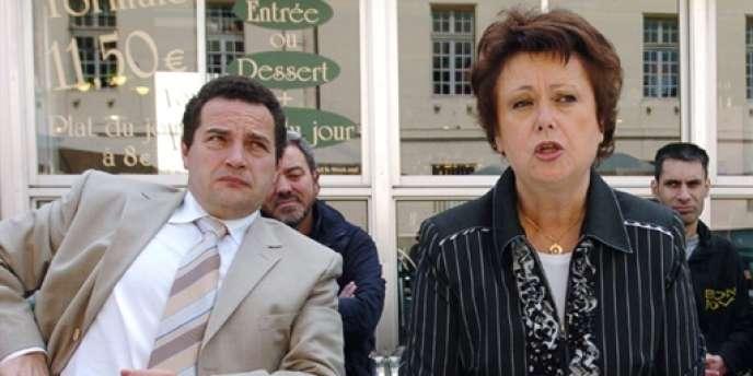 Jean-Frédéric Poisson (à gauche), en compagnie de l'ex-ministre Christine Boutin, en juin 2007.