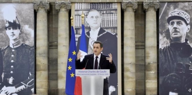 Nicolas Sarkozy, le 22 février 2008 à Paris.