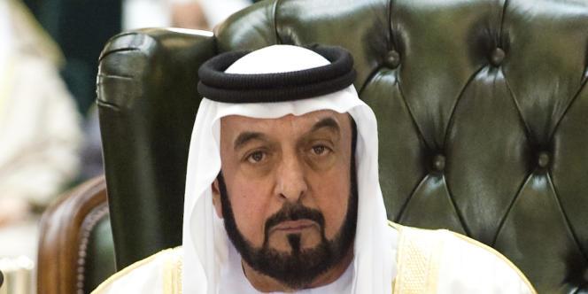 Khalifa Ben Zayed Al-Nahayan, émir d'Abou Dhabi.