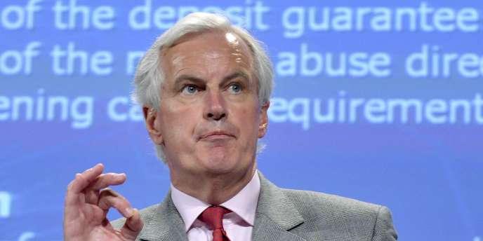 Michel Barnier, commissaire européen aux marchés, le 26 mai 2010 à Bruxelles.