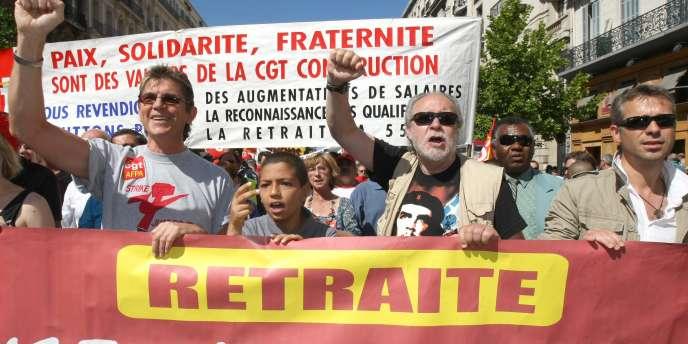 Manifestation contre la réforme des retraites le jeudi 27 mai, à Marseille.
