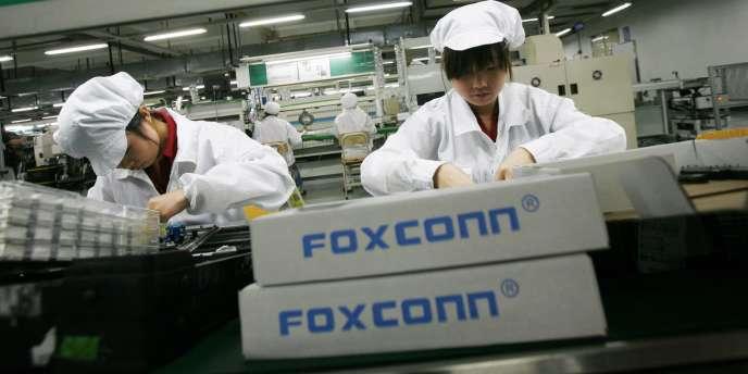 Des ouvrières de Foxconn, qui sous-traite notamment pour Apple, le 26 mai 2010.