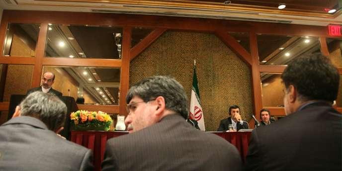 Le président iranien Mahmoud Ahmadinejad à la conférence du TNP, le 4 mai.