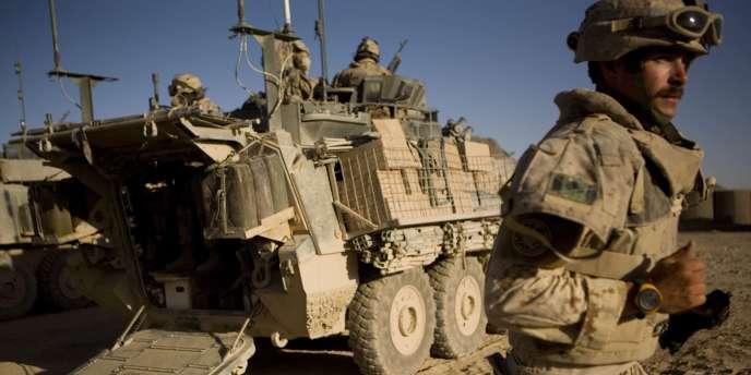 Un soldat canadien dans le district de Paniwayi, dimanche 30 mai en Afghanistan.