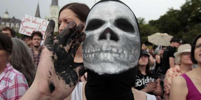 Manifestation contre BP dans le quartier français du Vieux Carré, à La Nouvelle-Orléans, le 30 mai.