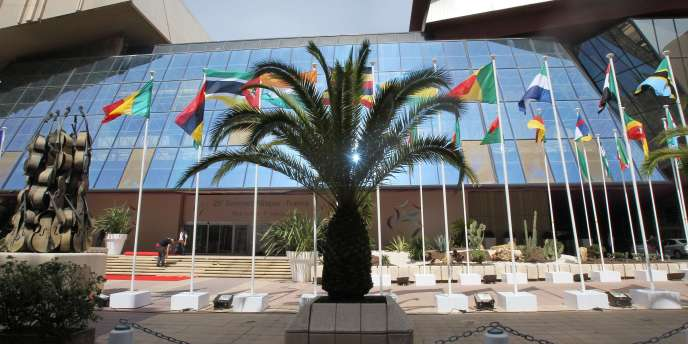 Le Palais des congrès de Nice où se déroule le 25e sommet Afrique-France, les 31 mai et 1er juin 2010.