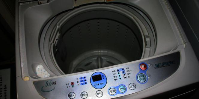 Photo d'une machine à laver le linge.