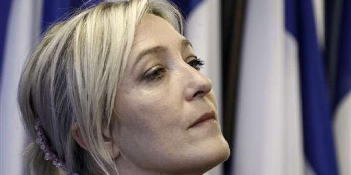 Marine Le Pen, en mars 2012 à Nanterre.