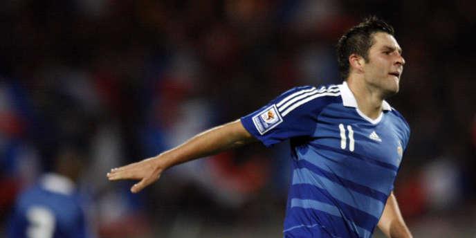 André-Pierre Gignac, sous le maillot de l'équipe de France, pourrait bientôt porter celui de l'Olympique de Marseille