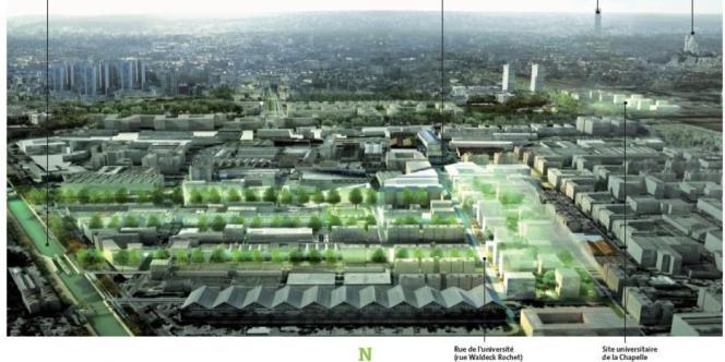 Plan général du futur campus Condorcet-Paris-Aubervilliers, des architectes Lipsky et Rollet.