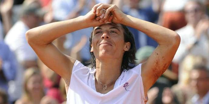 Le bonheur de Francesca Schiavone après sa victoire à Roland-Garros le 5 juin.