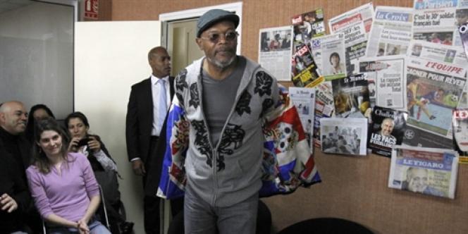 L'ambassadeur des Etats-Unis en France, Charles Rivkin, avait organisé une rencontre en avril entre l'acteur Samuel L. Jackson et des étudiants français à Bondy (Seine-Saint-Denis).