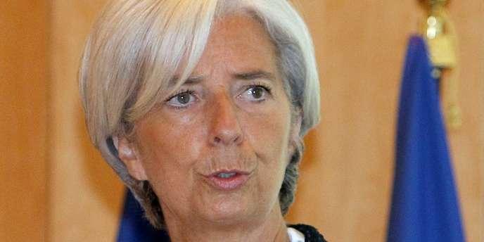 La ministre de l'économie, Christine Lagarde.