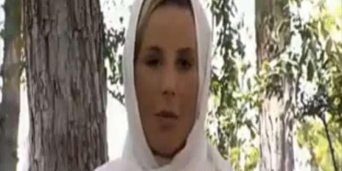 Laurence Ferrari, la présentatrice du 20 heures de TF1, lors de son interview du président iranien, Mahmoud Ahmadinejad, lundi 7 juin.