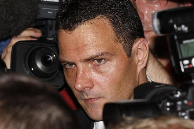 L'ancien trader Jérôme Kerviel lors de son arrivée au Palais de justice de Paris, le 8 juin 2010.