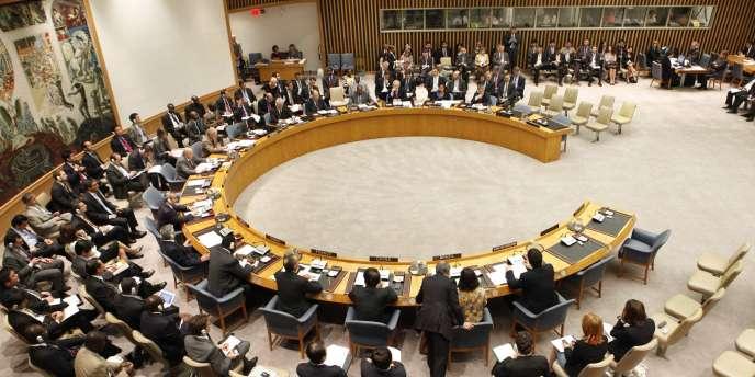 Le Conseil de sécurité, principal organe de décision de l'ONU, à New York, en juin 2010.