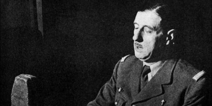 Le général de Gaulle lors de l'appel du 18 juin 1940 à Londres.
