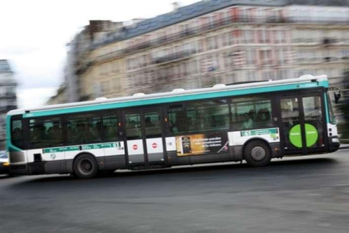 Quasiment 100% des bus de la RATP fonctionnent au gazole.