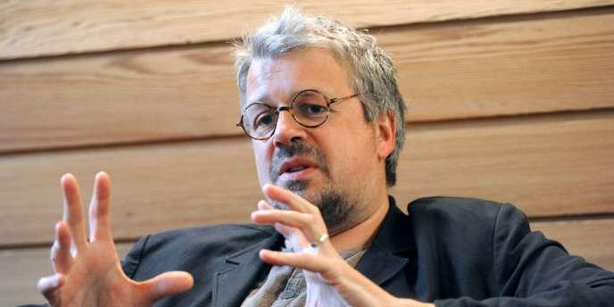 Le réalisateur français Sylvain Chomet lors du 50e Festival du film d'animation d'Annecy, le 8 juin 2010.