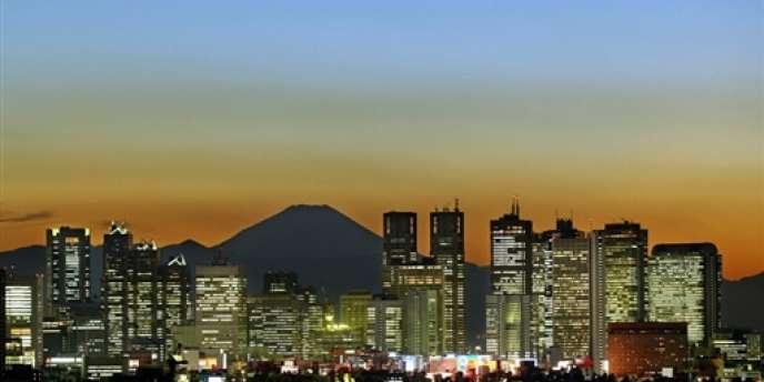 Vue sur Tokyo et le mont Fuji.