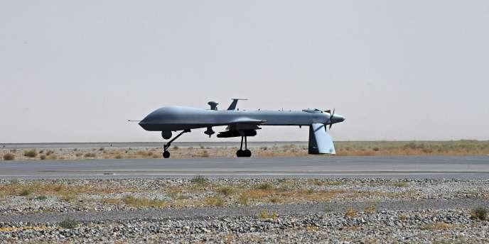 Un drone américain, ici pris en photo à Kandahar, en Afghanistan, en 2010.