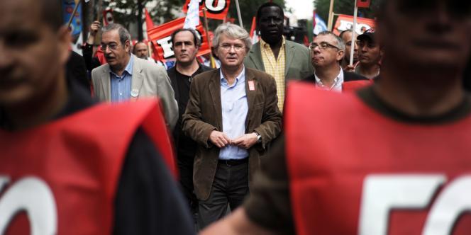 Jean-Claude Mailly, le 15 juin 2010, à Paris.