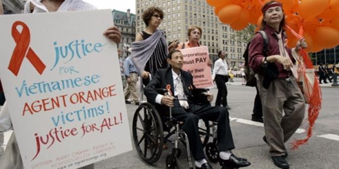 Une manifestation de victimes de l'agent orange en 2007 à New York.