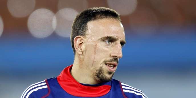 Franck Ribéry à l'entraînement le 16 juin.