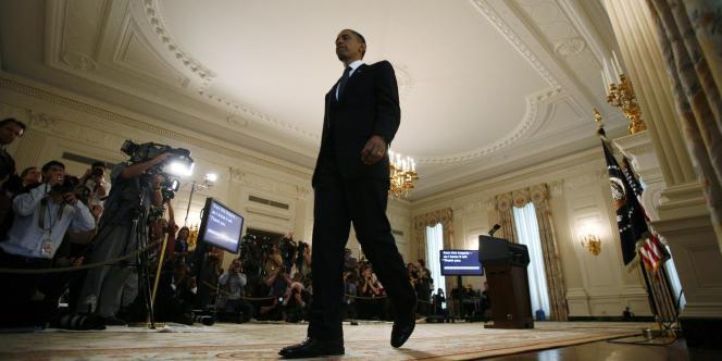 Le président Obama, après sa réunion avec l'état-major de BP, mercredi 16 juin à la Maison Blanche.