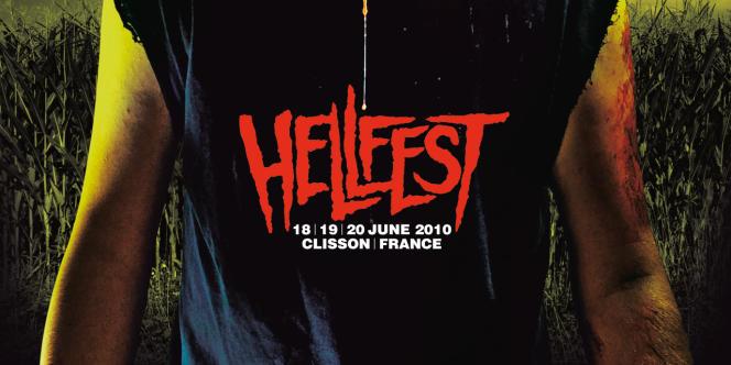 Affiche de la sixième édition du Hellfest, qui se tient à Clisson (44), du 18 au 20 juin.