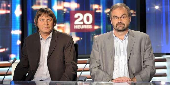 François Chérèque et Bernard Thibault. Le patron de la CFDT critique un sondage paru dans