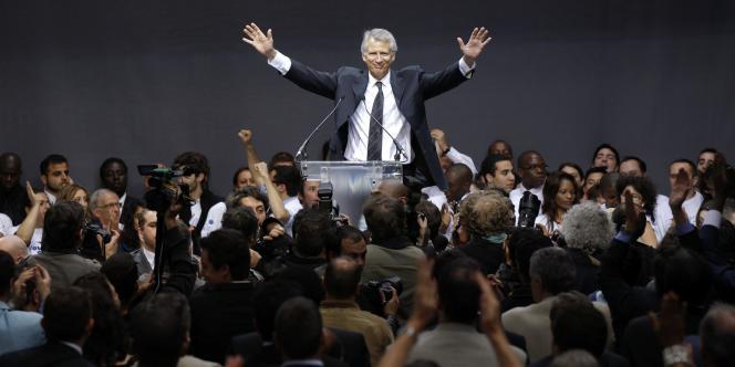 Dominique de Villepin, lors du lancement de République solidaire, le 19 juin 2010.