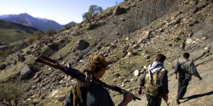 Des rebelles kurdes dans une zone frontalière entre l'Irak et l'Iran.